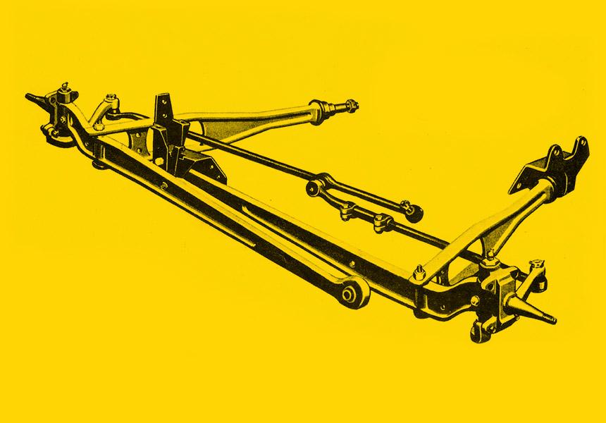 Exemplo de uma suspensão do tipo Twin I Beam que equipa as pick-ups da Ford