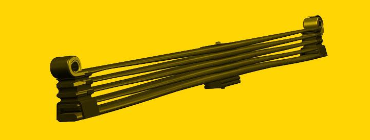 Feixe de molas na configuração parabólico.