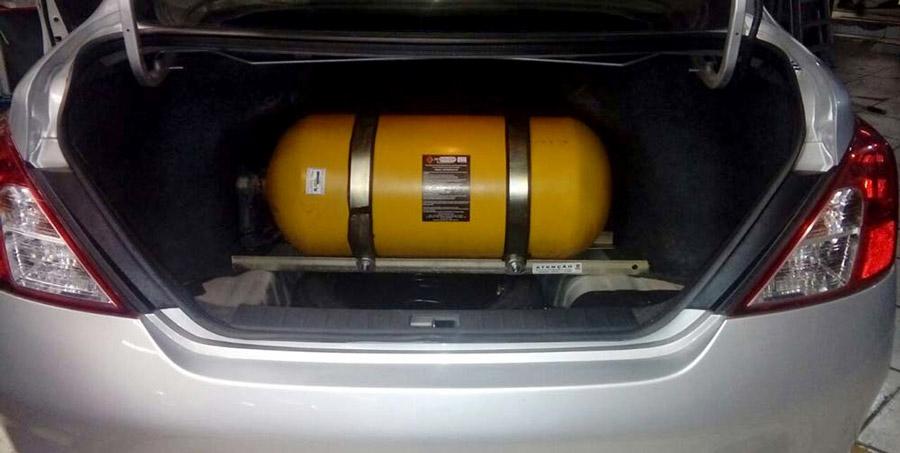 Existem molas especificas para equipar veículos com GNV.